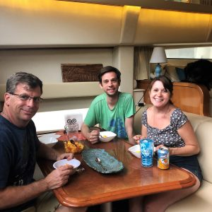 Nick & Lynna dinner on the boat