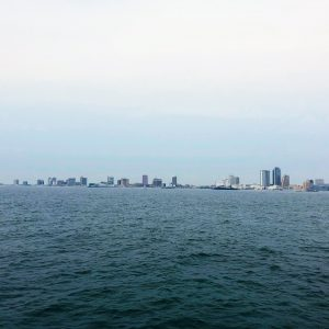 View of city from the water