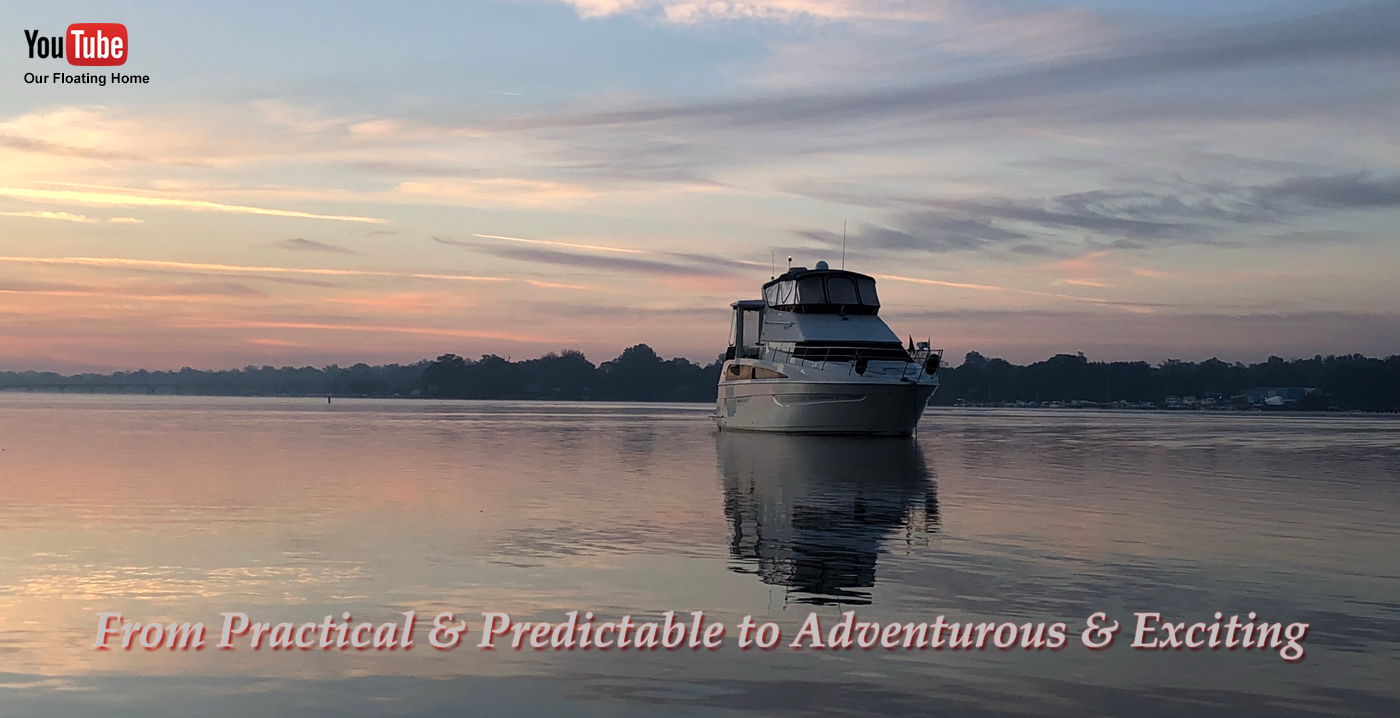 Motor Yacht on water with sunset