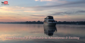 Image of our Floating Boat Home on The Chesapeake Bay