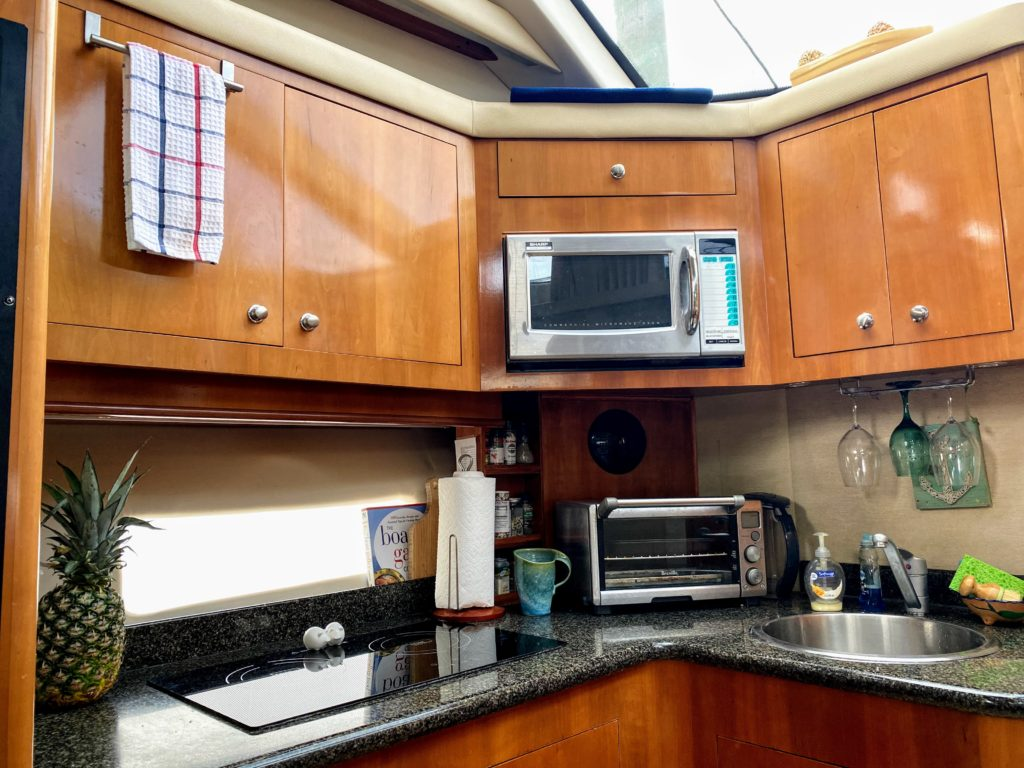 small kitchen on boat